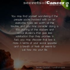 Cancer Horoscope. Need more Cancer info? Visit iFate.com today!