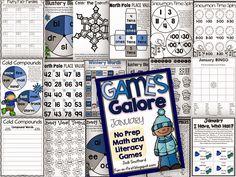 January Games Galore NO PREP GAMES