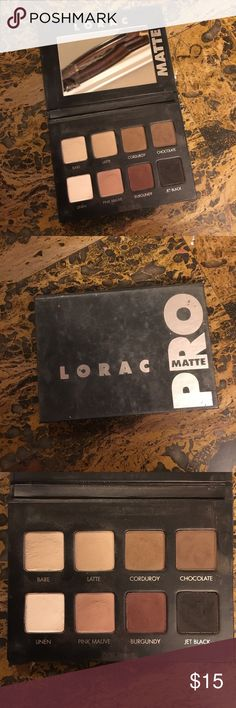 LORAC Pro Matte Eyeshadow Palette LORAC Pro Matte Eyeshadow Palette. Minimally used. Beautiful Palette. LORAC Makeup Eyeshadow