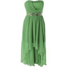 AX Paris Jewelled Drop Back Chiffon Dress - Polyvore