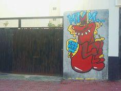 Street art mural (Torrevieja) The red guy.