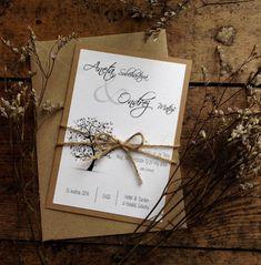 Pozvánka ke svatebnímu stolu se stromem / Zboží prodejce fropetka | Fler.cz Wedding Invitations, Gift Wrapping, Gifts, Paper Wrapping, Wrapping Gifts, Wedding Invitation Cards, Gift Packaging, Favors, Presents