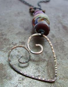 Tutorial Tuesday - Wire Heart Pendant - Art Bead Scene Blog