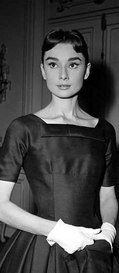 Audrey Hepburn on the set of Love in the Afternoon in 1956.