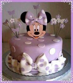 purple minnie cake