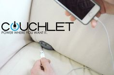 The Couchlet, A Convenient Device That Adds Two USB Charging Ports to a Couch or Bed