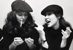 Amy Irving and Carrie Fisher