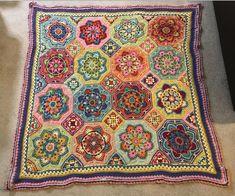 Crochet blanket - persian tiles eastern jewels