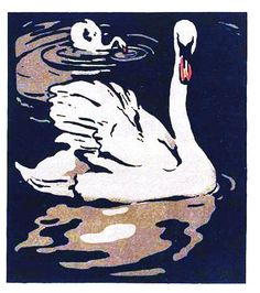 swan print-love how the water is done