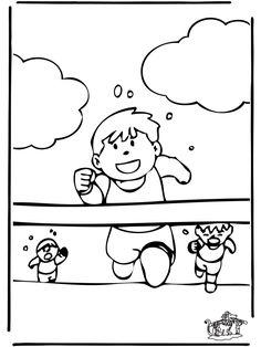 frokkie lola kleurplaten zwemmen baby zwemmen