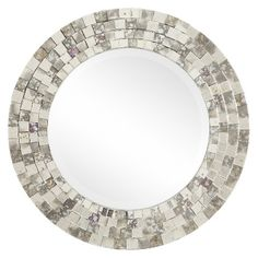 """Inspire  @ Glenmore Wall Mirror - 40""""Wx1.75""""D - Gray"""