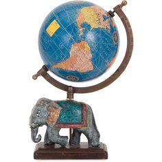 Dacey Small Elephant Globe