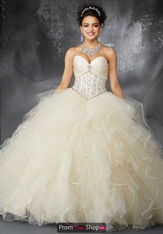 4a5921c0ba1 Valencia Quinceanera Ruffled Tulle Skirt Gown 60053