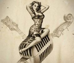 I like the Old School Look of this Art Work/Pin up