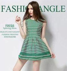 las mujeres de la moda de color verde ángel styleG de la niña de la vendimia vestidos de encaje sin mangas vestido de verano