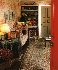 Keith Irvine. Idea for decorating your rented home or rental apartment. Paint the trim on your doors a contrasting color.