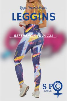 Leggins pretina alta, colorida de azul y amarillo #legginscolombiana #ropadeportemujer #legginslover #ropadeportiva Chile, Spandex, Pants, Fashion, Colorful, Sport Clothing, Over Knee Socks, Sports, Women