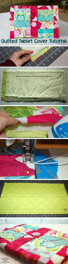 How to sew a quilted cover for your tablet!