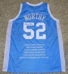 3a4c8e39d22 James Worthy Autographed Jersey - Unc North Carolina Tar Heels #52 Stat - JSA  Certified - Autographed NBA Jerseys by Sports Memorabilia. $333.99.