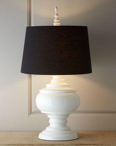 """White """"Burma"""" Lamp at Neiman Marcus."""