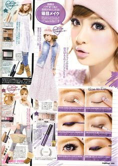 play with your make up! Instead of using black all the time try purple :) looks gorgeous