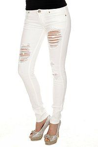 International Concepts Men's Orlando White Ripped Skinny Jeans ...