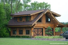 Are you looking for new log cabin or luxurious log mansion floor plans? If so, visit Pioneer Log Homes of BC. We provide many log home plans to choose from. Log Cabin Living, Small Log Cabin, Log Cabin Homes, Log Cabins, Mountain Cabins, Timber Frame Homes, Timber House, Dream Home Design, House Design