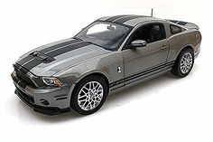2013 Ford Shelby GT500, Gray with Stripes - Shelby Collectibles, Inc. SC395-1 - 1/18 Scale Diecast Model Toy Car - Diecast Model Cars