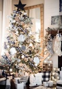 A Perfect Black And White Buffalo Check Christmas Tree See 10 More