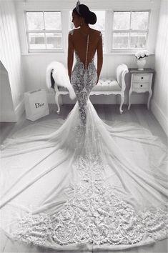 Wedding Dress Tight, Muslim Wedding Dresses, Western Wedding Dresses, Backless Wedding, Wedding Dress Trends, Dream Wedding Dresses, Bridal Dresses, Wedding Gowns, Wedding Dress Beach