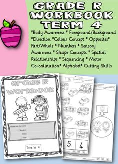 Grade R Workbook Term 4 - School Diva R Colors, Life Skills, Alphabet, Knowledge, Positivity, Relationship, Concept, Shapes, Education