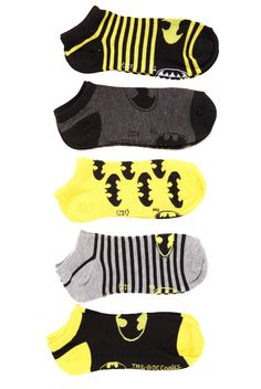 DC Comics Batman No-Show Socks 5 Pack 172559 - Batman Clothing - Ideas of Batman Clothing - DC Comics Batman No-Show Socks 5 Pack 172559 Cute Socks, My Socks, Silly Socks, Awesome Socks, Leggings, Tights, Batman Love, Batman Stuff, Batman Socks