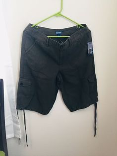 0e770388ca0 Details about New Izod Olive Green Cargo Hiking Women s Shorts Size 10  Linen Blend Drawstring