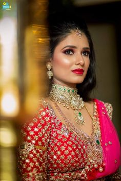 Gold Necklace Simple, Unique Earrings, Lehenga, Sarees, Most Beautiful Indian Actress, Half Saree, Jewellery Designs, Embroidered Blouse, Bridal Fashion