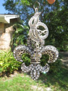 NOLA DREAMS Tree Jewelry Christmas Ornament Fleur de Lis New