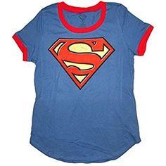 Shirt Superman Action No 1 Adult Ringer T
