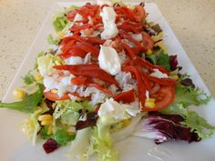 Ensalada de bacalao - Buscar con Google Caprese Salad, Cabbage, Tacos, Vegetables, Ethnic Recipes, Drinks, Food, Google, Salads