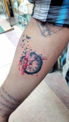 Polka trash style clock.
