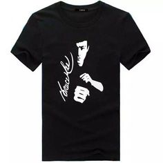 Bruce Lee Martial Arts Silhouette Black T shirt For Men Free shipping to worldwide #BruceLee #shortsleeve #freeshipping #tshirt #WingChun #Kungfu #martialarts #shortsleeve #slimfit #oneck #fashion #summer #李小龙 #李小龍 #enterthedragon