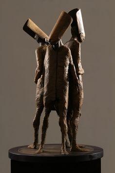 Sculpture by Max Leiva / 6607 Modern Sculpture, Sculpture Art, Traditional Sculptures, Ceramic Figures, Creature Concept, Wow Art, Bronze, Elements Of Art, Surreal Art