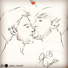 Nose kiss from amore Adell @adell_moretti for me =))) #art #instaart #instapic #fanart #davincisdemons #leario #girolamoriario #leonardodavinci #series #digitalart #byAdell #bathtime #riario #countriario #count #girolamo #leonardo #davinci #sketch