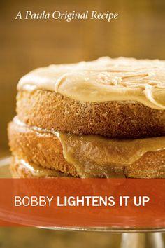 Bobby's Lighter Caramel Cake