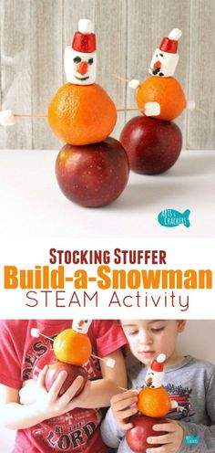 Stack, decorate, and build a snowman with this fun winter STEAM activity Winter Activities For Kids, Educational Activities For Kids, Steam Activities, Indoor Activities, Christmas Activities, Learning Activities, Preschool Winter, Christmas Arts And Crafts, Christmas Math