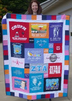 Don't have enough T-shirts to make a quilt the size you want? Here are some ways to make your quilt larger without having to add more T-shirts.