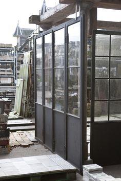Steel Frame Doors, Steel Doors And Windows, Metal Windows, Kitchen Extension Doors, Reclaimed Windows, Industrial Door, Shutter Doors, Cafe Style, Vintage Interiors