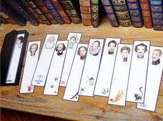 Colección de marcapáginas Grandes Escritores de la por amebaverde