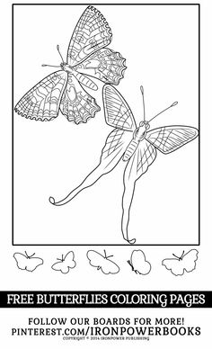Butterfly Coloring Pages - Butterflies Coloring Book (Butterfly Coloring Books For Adults) (Volume Insect Coloring Pages, Blank Coloring Pages, Butterfly Coloring Page, Free Printable Coloring Pages, Coloring Pages For Kids, Coloring Books, Mood Ring Color Meanings, Mood Ring Colors, Color Songs
