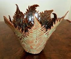 Fern Pottery Centerpiece by Lisa D Pottery. www.lisadpottery.com