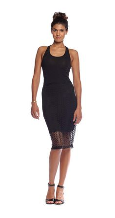 || Ladies Night || Tracy Reese Slim Skirt in Black