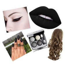 """""""Black and mysterious"""" by natthebat500 ❤ liked on Polyvore featuring beauty and Lime Crime"""